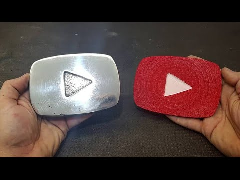 Casting My Own 50K YouTube Subscriber Silver/aluminum PLAY BUTTON