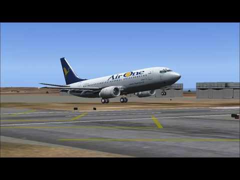 Air One (Lufthansa Group) Landing in Luqa/Malta
