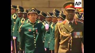 German chancellor with military honour guard