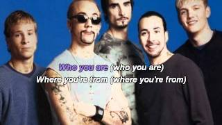 BSB - As long as you love me Karaoke