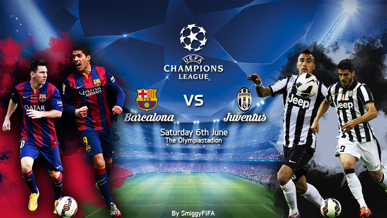 Champions League Final Poster Speed Art | Barcelona vs ...