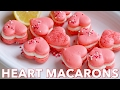 Dessert: Heart Macarons Recipe with Lemon Buttercream - Natasha's Kitchen