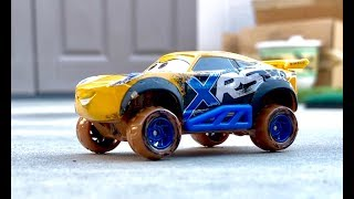Disney Cars Xtreme Racing Series Unboxing - Disney Cars Mud Racers Barry Depedal Cal Weathers Cruz