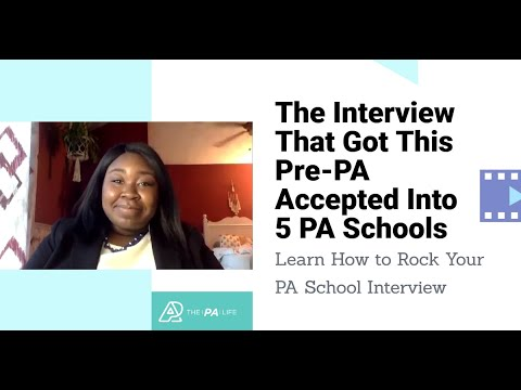 PA School Mock Interview - Recorded Practice Video Interviews | The