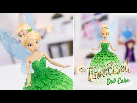 TINKERBELL Doll CAKE Tutorial - Disney Fairies - Peter Pan - Tan Dulce