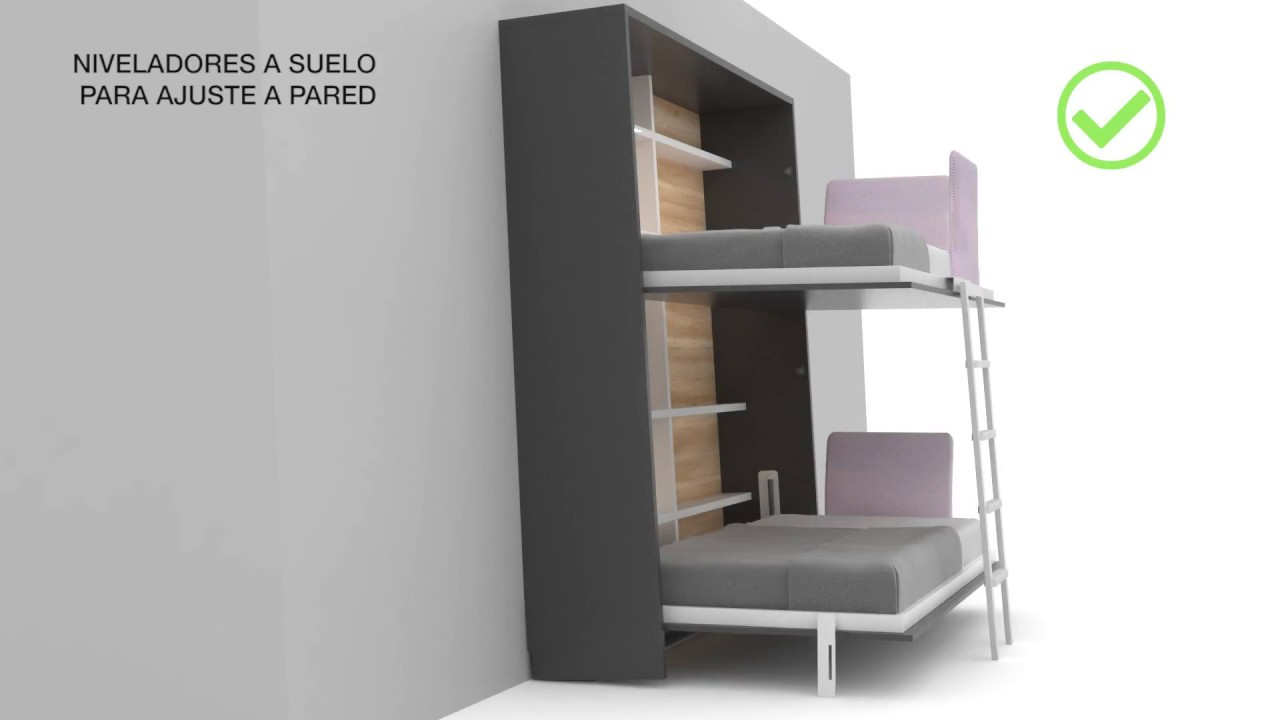 Litera Abatible Con Easybed Tetris Systems Sl Youtube