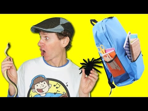 What is In Your Bag? Song with Matt   School Classroom Items   Learn English Kids