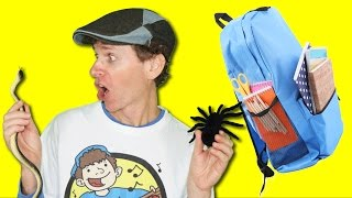 What is In Your Bag? Song with Matt | School Classroom Items | Learn English Kids
