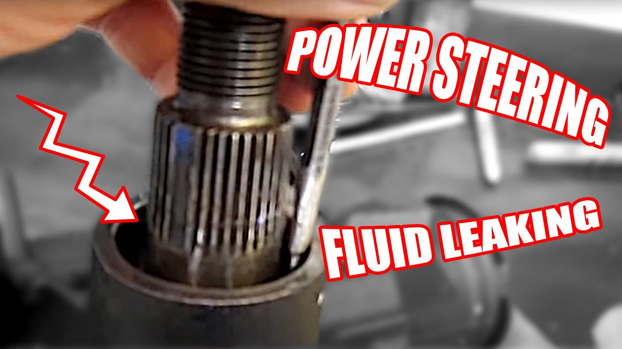 Ferrari Oil Change >> Power Steering Fluid Leaking on a General Motors Steering Gear Box - YouTube