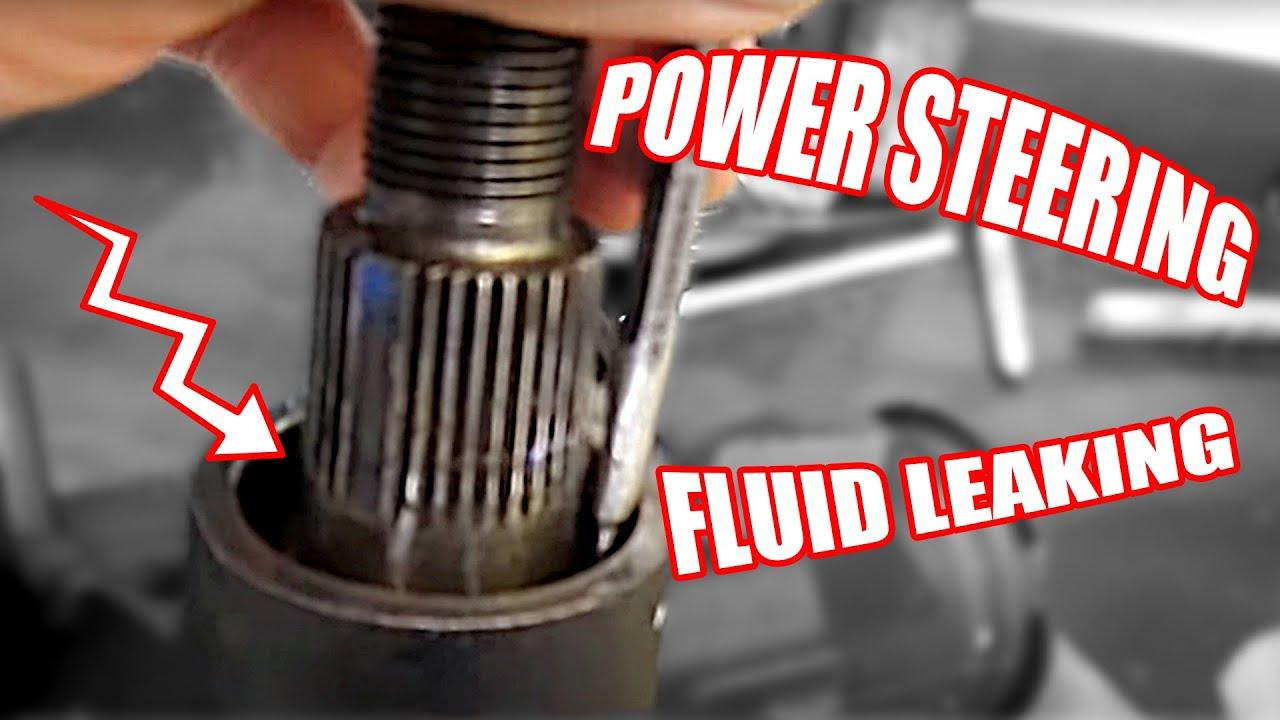 hight resolution of power steering fluid leaking on a general motors steering gear box