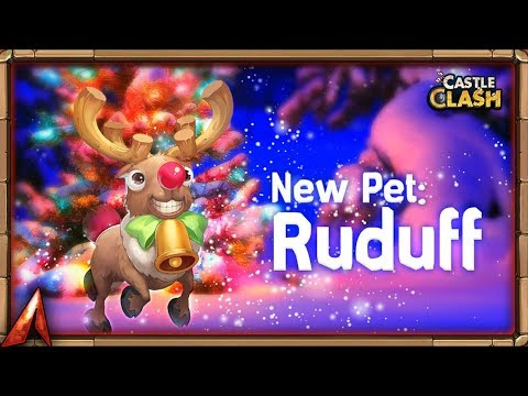 NEW PET! Ruduff (Rudolph) Comes To Castle Clash!