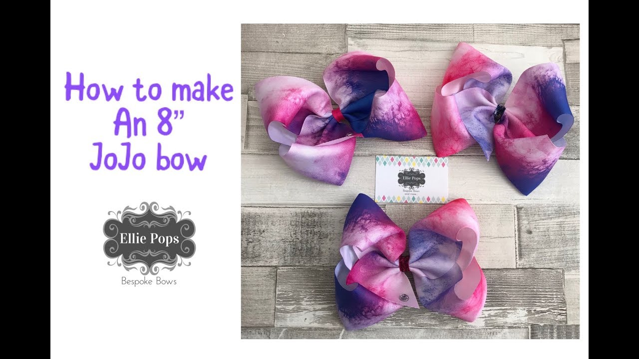 "Easy simple 8"" boutique southern JoJo style dance bow ..."