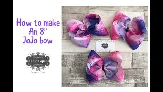"""Easy simple 8"""" boutique southern JoJo style dance bow tutorial"""