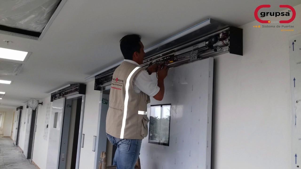 Puntoinnova proceso de instalaci n puertas de hospitales - Como colocar puertas correderas ...