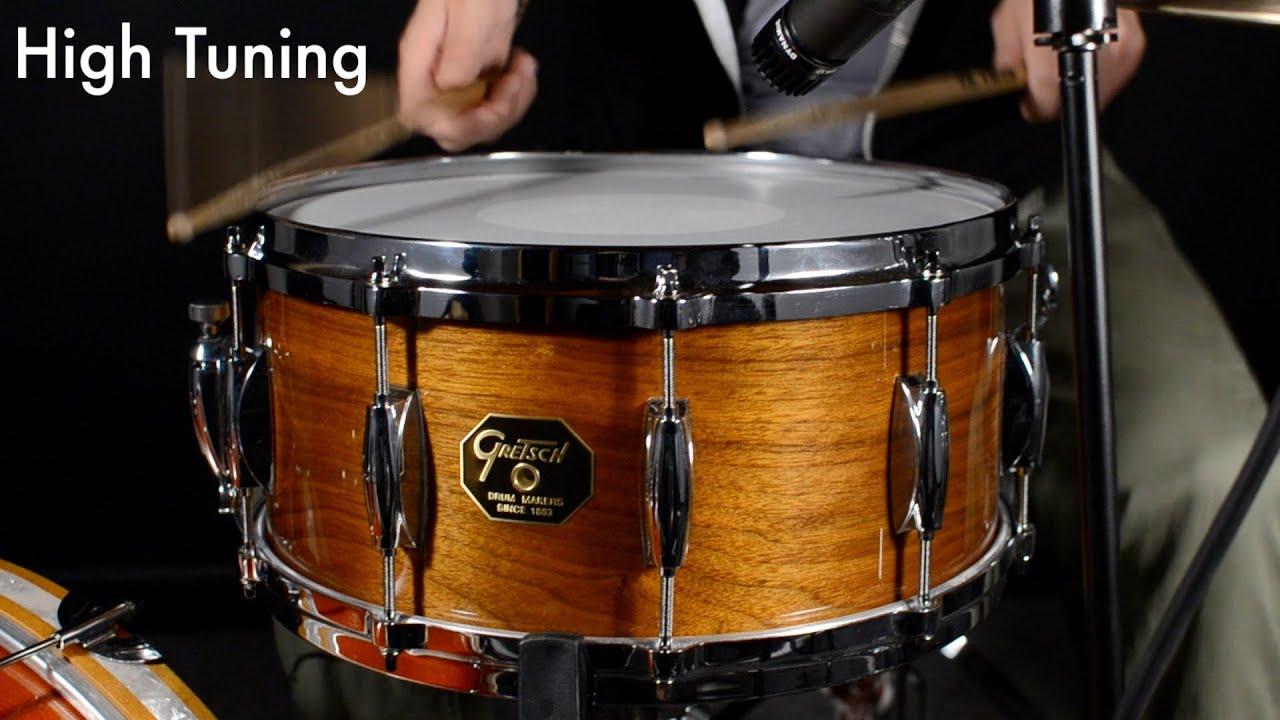 gretsch usa custom solid walnut snare drum youtube. Black Bedroom Furniture Sets. Home Design Ideas