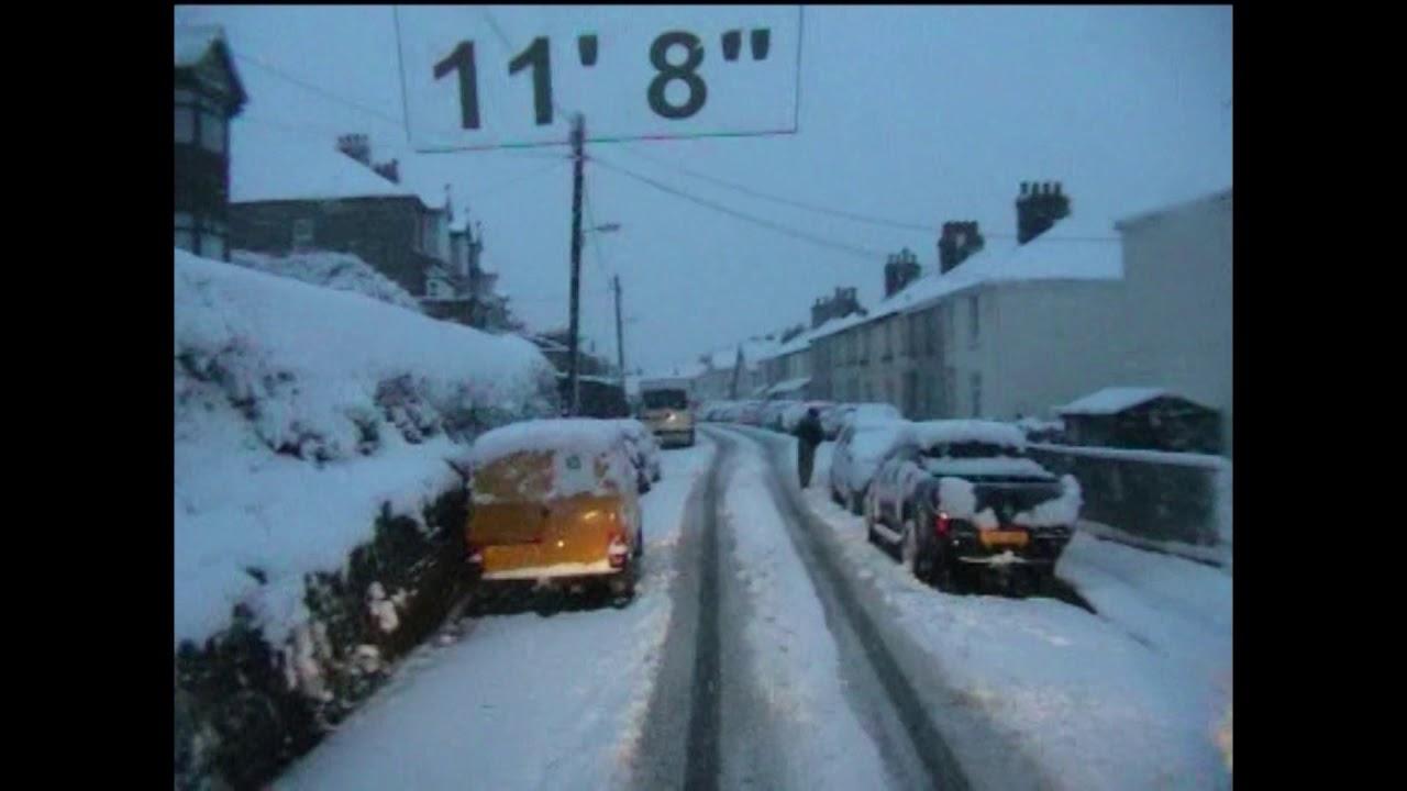 Snowfall at Launceston, February 3rd, 2009