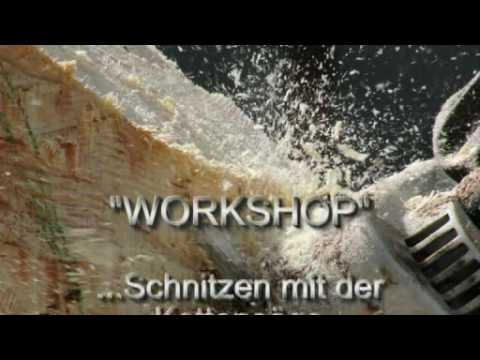 workshop schnitzen mit der kettens ge youtube. Black Bedroom Furniture Sets. Home Design Ideas