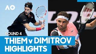 Dominic Thiem vs Grigor Dimitrov Match Highlights (4R) | Australian Open 2021