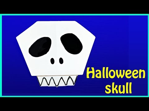 ORIGAMI SKULL FOR HALLOWEEN  - Creative Paper Crafts