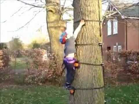 backyard sensation turn any tree into a climbing wall youtube. Black Bedroom Furniture Sets. Home Design Ideas