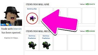 I TRADED MY DOMINUS AWAY.. (Roblox)