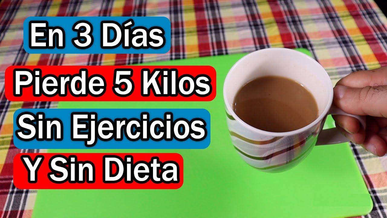 En 3 días pierde 5 kilos de peso súper rápido, Sin dieta estricta, sin entrenamiento