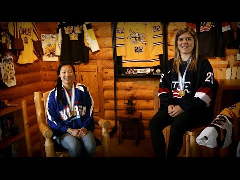 American sisters compete for two different Olympic hockey teams