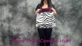 Zebra Print Campus Hobo