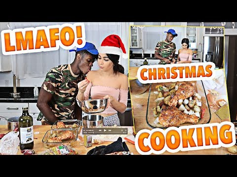 THE BEST CHRISTMAS COOKING WITH MY GIRLFRIEND! HILARIOUS VLOGMAS DAY 22