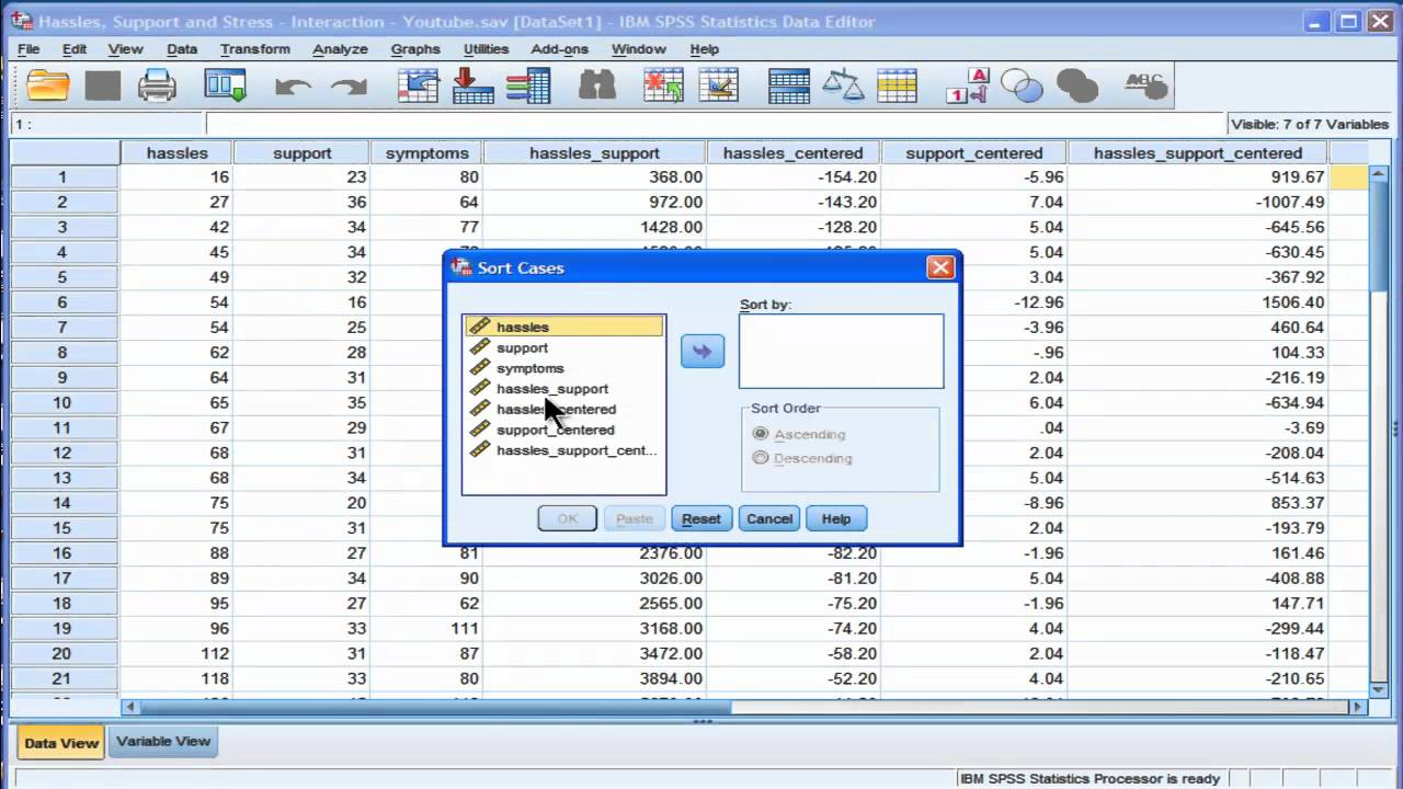 Linear Regression SPSS Services