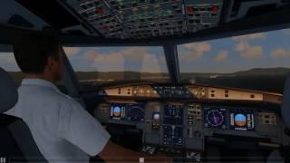 Cockpit DELTA A320 landing at KSFO [Aerofly 2]