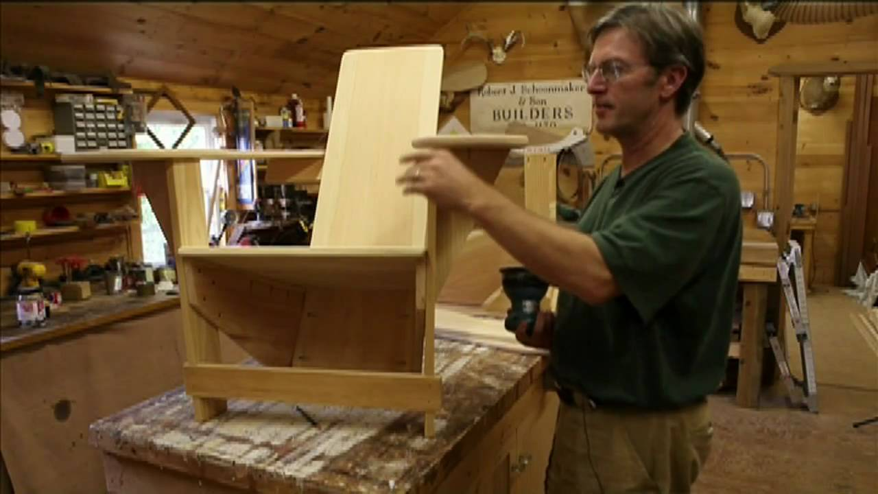 Handcrafted Adirondack Westport Chairs: Gloversville, New York   YouTube