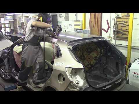 Ремонт кузова. Киа Рио, бок 3. Body repair after an accident.