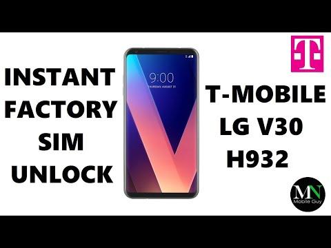 SIM Unlock T-Mobile LG V30 H932 - No Device Unlock App Needed!