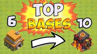 TOP 5 Meilleures Bases Rush/GDC [HDV 6 à 10] Clash of Clans