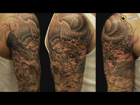 Best Dragon Half Sleeve Tattoo Design Idea