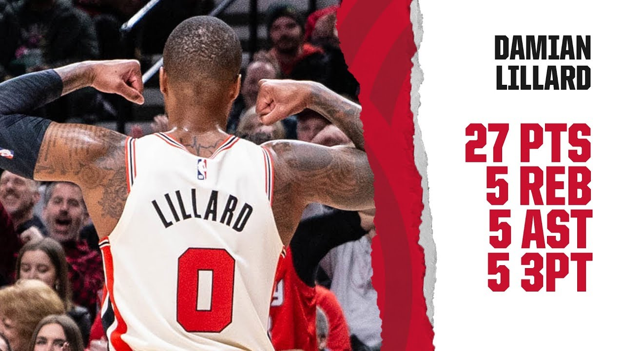 Damian Lillard's three-point play lifts Portland Trail Blazers past ...