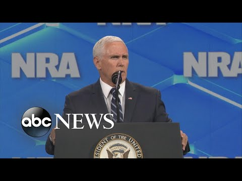 Pence hits at Biden, other Dems during NRA speech