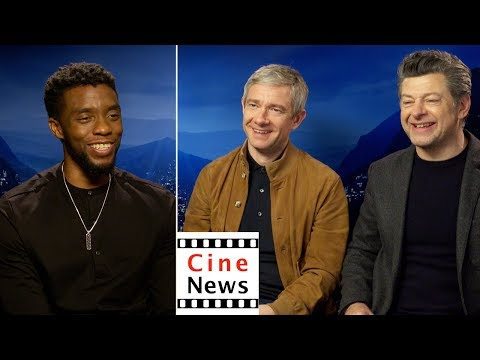 Black Panther – Interview: Chadwick Boseman, Martin Freeman, Andy Serkis