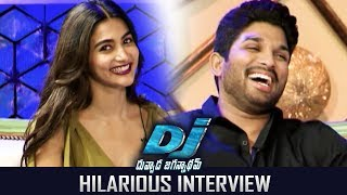Allu Arjun and Pooja Hegde Hilarious Interview About Dj Duvvada Jagannadham | TFPC
