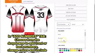 How to use Team Sports Planet's Baseball Uniform Builder