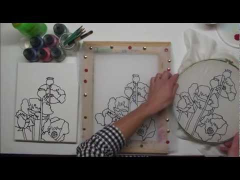 introduction a la peinture sur soie et sur voilage technique de fusion des couleurs youtube. Black Bedroom Furniture Sets. Home Design Ideas