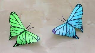 Origami Schmetterling basteln mit Papier 🦋 Bastelideen - DIY Wanddeko & Geschenk