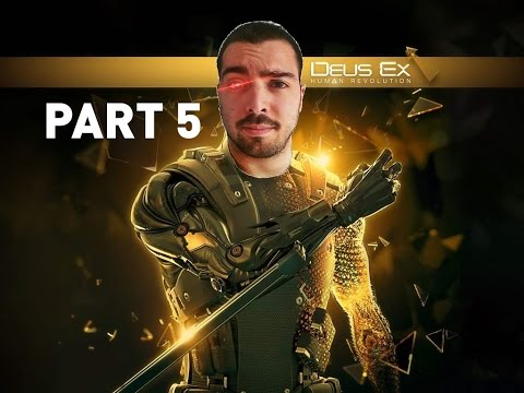 Let's Play Deus Ex: Human Revolution PART 5 (new webcam augmentation)