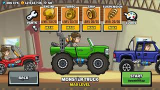 Hill Climb Racing 2 Dune Buggy VS Monster Truck (Max Level Fully Upgraded) Gameplay