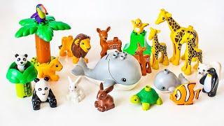Игрушки Лего Дупло Животные. Развивающее видео для детей.