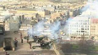 21-Gun salute at Edinburgh castle