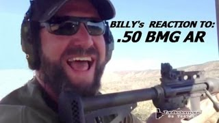 50 BMG  AR-15  -  KICKS LIKE A MULE!