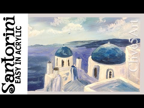 Santorini-Acrylic Painting