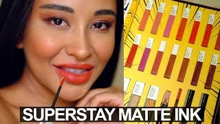 MAYBELLINE SUPERSTAY MATTE INK SWATCHES DI KULIT GELAP/SAWO MATANG/INDONESIA